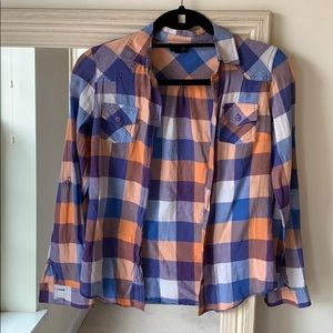 TOPSHOP checked button down shirt (2) ✨